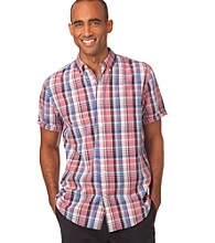 Chaps® Men's Short Sleeve Sundrenched Copperwood Plaid Woven