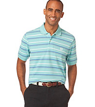 Chaps® Men's Big & Tall Short Sleeve Sandy Bay Striped Polo