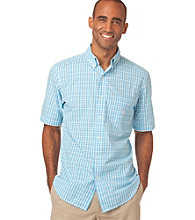 Chaps® Men's Big & Tall Short Sleeve Summer Moon Gingham Woven