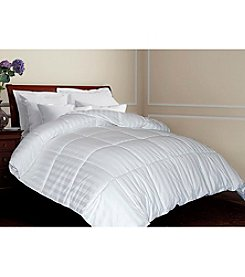 Blue Ridge Home Products Nature's Own Siberian White Down Comforter with Woven Damask Stripe