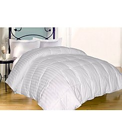 Blue Ridge Home Products Near Nature Cotton Woven Damask Stripe Down-Alternative Comforter