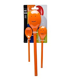 Zak Designs® 3-pc. Orange Happy Sppon Set