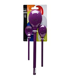 Zak Designs® 3-pc. Grape Happy Sppon Set