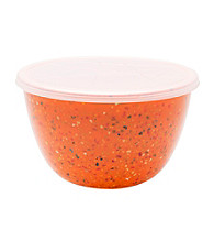 Zak Designs® Confetti Pub Orange Mix and Serve Bowl w/lid
