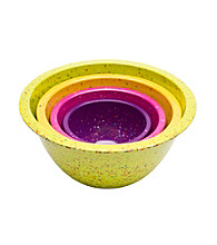 Zak Designs® 4-pc. Assorted Flora Confetti Pub Nested Bowl Set