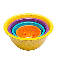 Zak Designs® 4-pc. Assorted Yellow Confetti Pub Nested Bowl Set