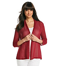 Notations® Shawl Collar Solid Can-Can Cardigan
