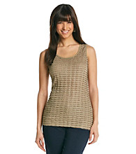 Notations® Scoop Neckline Shimmer Eyelash Top