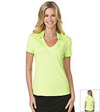 PGA Tour® Ladies Self Collar V-Neck Top