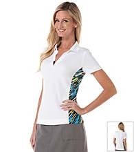 PGA Tour® Ladies Stripe Panels and Rib Trim Polo