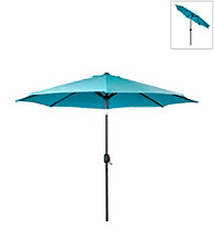 International Concepts 9' Mountain Blue Market Umbrella with Steel Pole