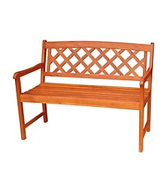 International Concepts Oiled Finish Asian Hardwood X-back Bench