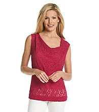 Skye's The Limit® Pinched Cowl Neck Woven Top