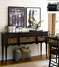Paula Deen® Down Home Molasses Sideboard with Baskets