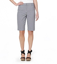 Jones New York Sport® Navy Multi Gingham Bermuda Short