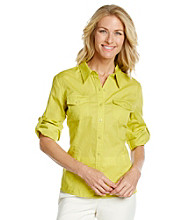 Jones New York Sport® Lime Fitted Shirt