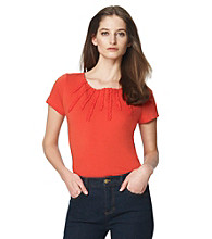 Jones New York Sport® Coral Spray Ruffled Knit Top
