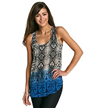 Black Rainn™ Blue Multi Snakeskin Print Tank