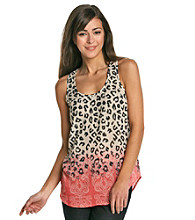 Black Rainn™ Coral Multi Cheetah Print Tank