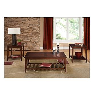 Liberty Furniture Missoula Set Of 3 Rectangular Accent Tables Living Room Furniture Sets