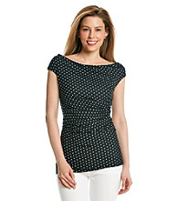 Vince Camuto® Ruched Side Dot Top