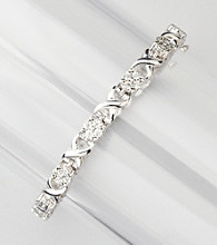 .18 ct. t.w. Diamond Link Tennis Bracelet - Sterling Silver