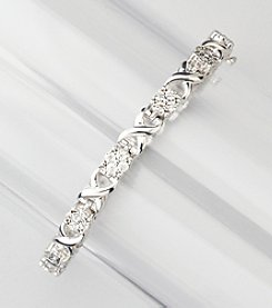 .18 ct. t.w. Diamond Link Tennis Bracelet in Sterling Silver
