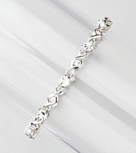 .08 ct. t.w. Diamond Link Tennis Bracelet - Sterling Silver