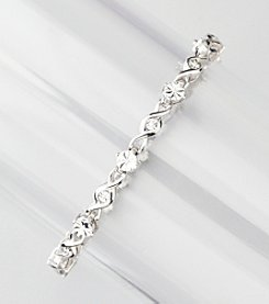 .08 ct. t.w. Diamond Link Tennis Bracelet in Sterling Silver