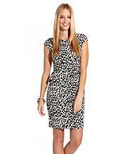Karen Kane® Leopard Print Sheath Dress