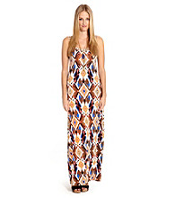 Karen Kane® Diamond Print Maxi Dress