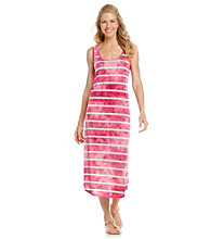Chaus Tie-Dye Stripe Tank Dress