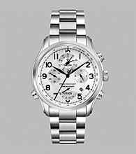 Bulova® Men's Precisionist Chronograph Stainless Steel Bracelet Watch