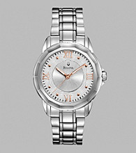 Bulova® Women's Stainless Steel Watch with Silvertone/White Dial