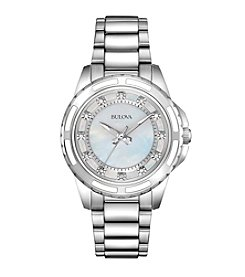 Bulova® Women's Diamond and Mother-of-Pearl Dial Watch