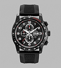 Bulova® Men's Marine Star Chronograph with Black Strap
