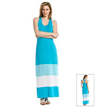 Calvin Klein Racerback Colorblocked Maxi Dress