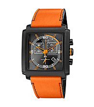 Citizen® Men's Drive Eco-Drive Stainless Steel Orange Chronograph Strap Watch