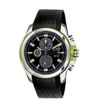 Citizen® Men's Drive Eco-Drive Stainless Steel Chronograph Strap Watch