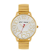 Betsey Johnson® Goldtone Expansion Band Bracelet Watch