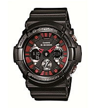 G-Shock Xl Men's Ana-Digi Black Watch with Red Accents