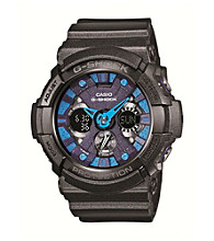 G-Shock Xl Men's Ana-Digi Black Watch with Blue Accents