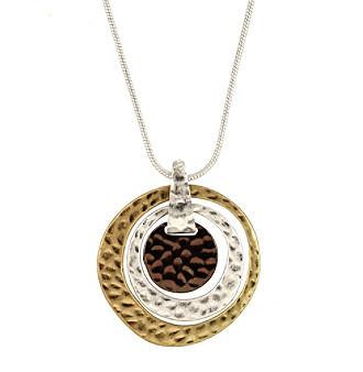 """Nine West Vintage America Collection® 16"""" Adjustable Tri-Tone Pendant Necklace plus size,  plus size fashion plus size appare"""