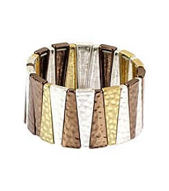 Nine West Vintage America Collection® Tri-Tone Stretch Bracelet
