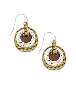 Nine West Vintage America Collection® Tri-Tone Orbital Drop Earrings