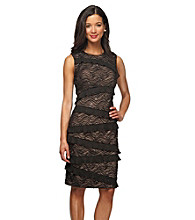 Alex Evenings® Banded Lace Dress With Asymmetrical Trim