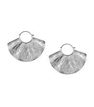 Jessica Simpson Shimmering Oasis Silvertone Wave Earrings
