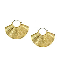 Jessica Simpson Shimmering Oasis Goldtone Wave Earrings