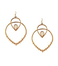Jessica Simpson Desert Rose Drop Earrings