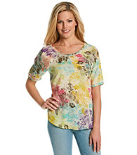 Nine West Vintage America Collection® Petites' Marissa Floral Scoopneck Top